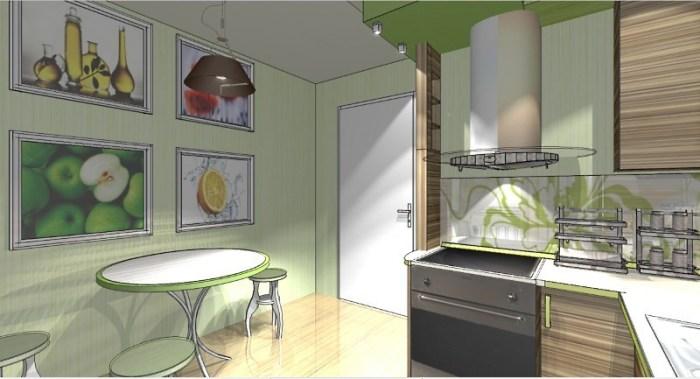 квадратная кухня 9м