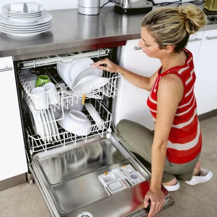 девушка и посудомойка