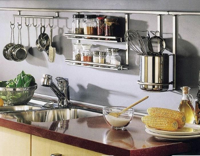 функциональные рейлинги на кухне