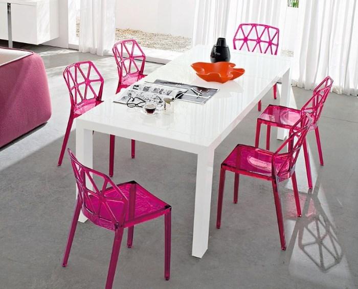 Белый обеденный стол
