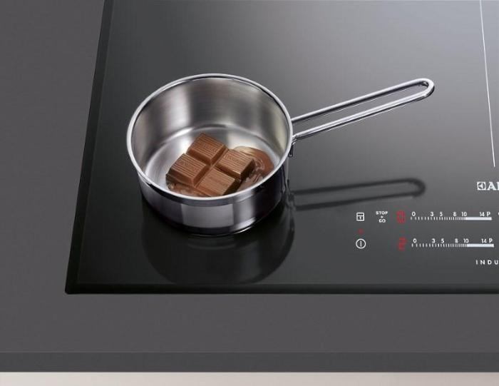 индукционная плита и шоколад