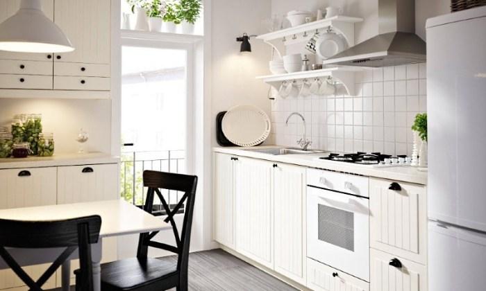 белая кухня ikea