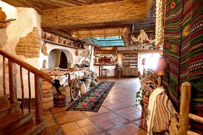 пол на кухне в украинском стиле