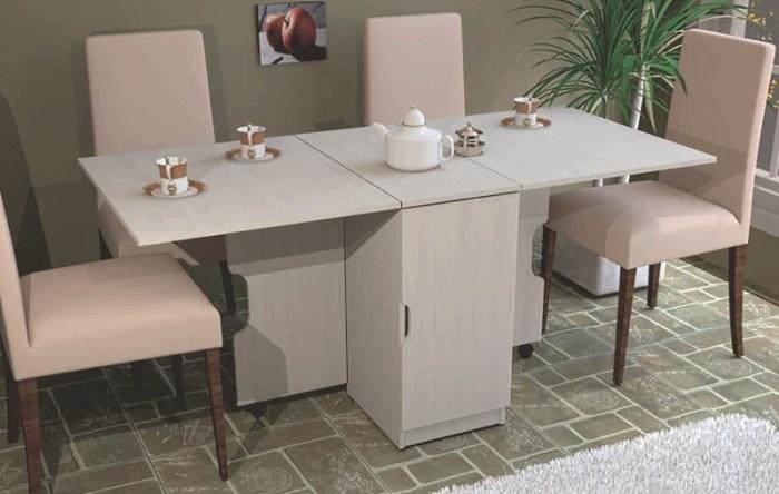 Раскладная столовая мебель