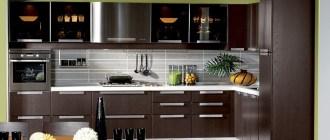 Венге – потрясающий цвет, который изменит характер вашей кухни