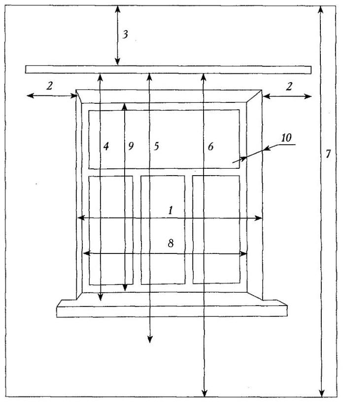 Замер окна для кухонной гардины