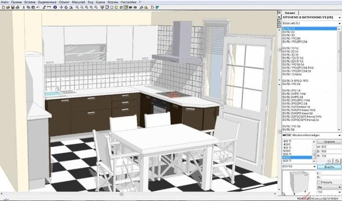 3d макет кухни