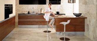 Пол из керамогранита – оптимальное решение для кухонного интерьера