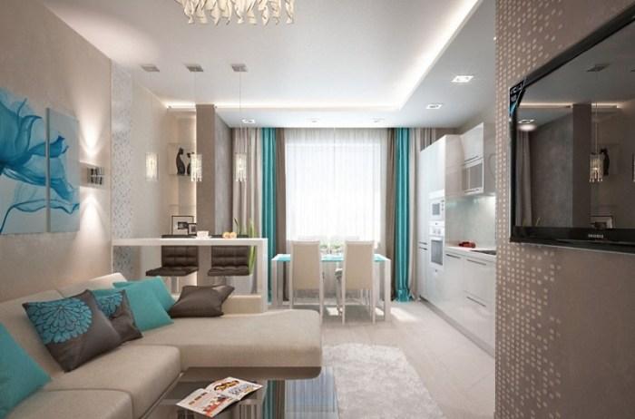 Дизайн кухни-гостиной 16 кв м