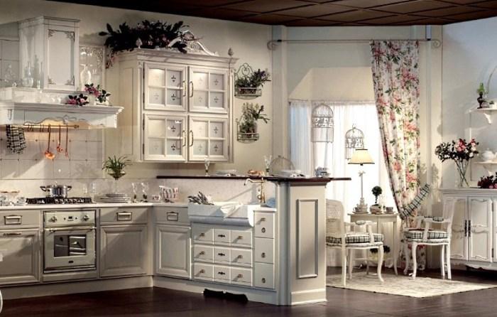 Французский дизайн интерьера кухни