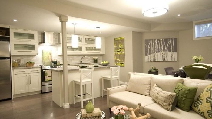 Гостиная совмещенная с кухней