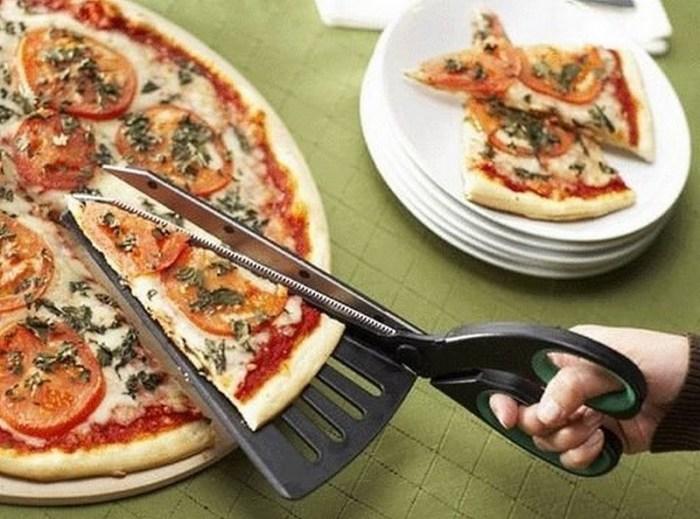 ножницы с лопаткой для пиццы