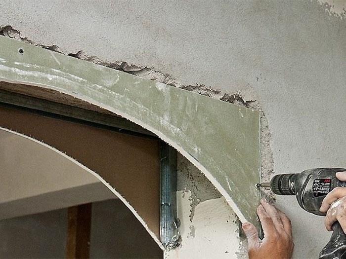 создание арки из гипсокартона