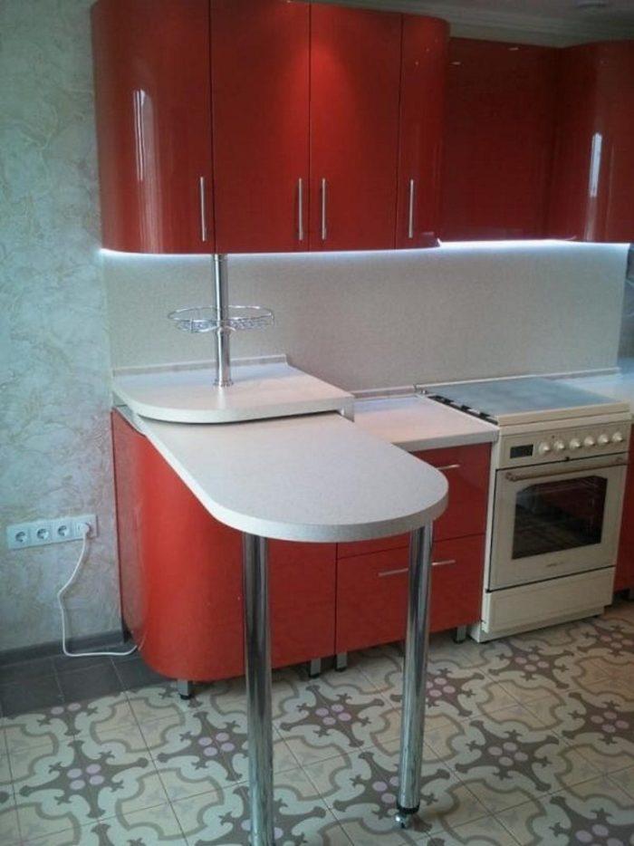 барная стойка трансформер на маленькой кухне