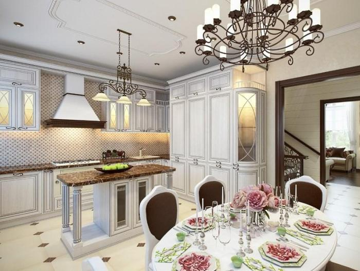 Дизайн белой кухни