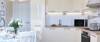 Невероятные превращения кухни белого цвета