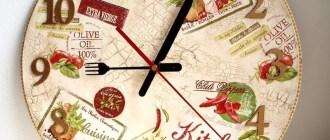 Стильный декор для кухни: как легко сделать настенные часы своими руками?