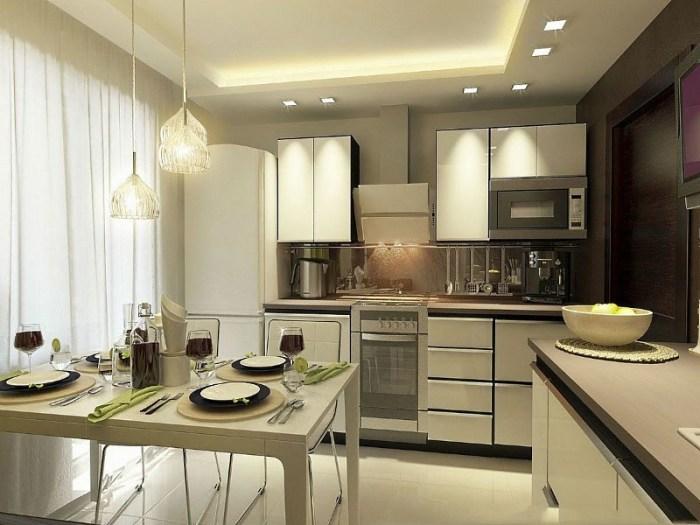 Освещение кухни в панельном доме