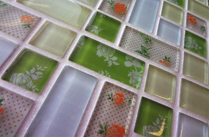 Стеклянная мозаика для фартука