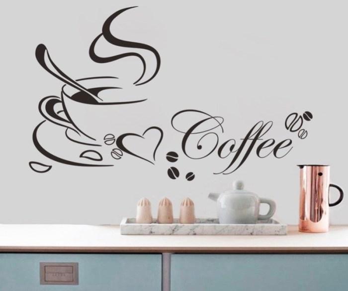Виниловая наклейка кофе