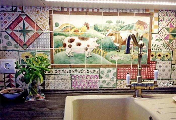 Панно из керамической плитки на кухню