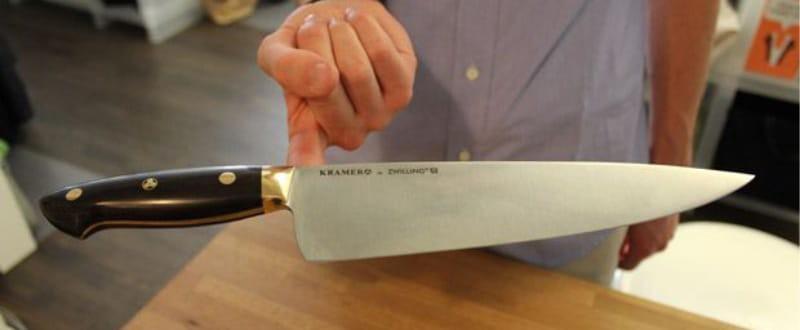 Проверка баланса ножа