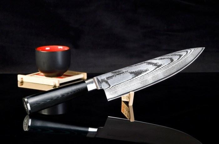 Японский нож дамасская сталь