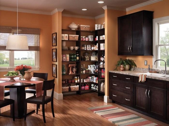 Кладовка на кухне открытого типа