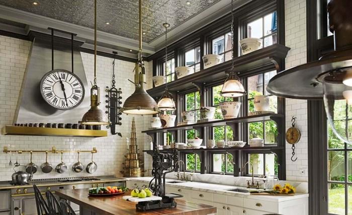 Кухонные часы индустриальный дизайн