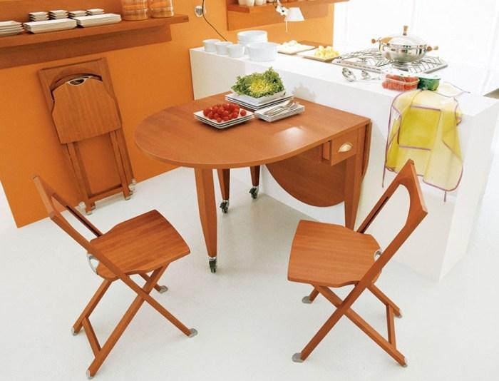 Складные стулья экономия места на кухне