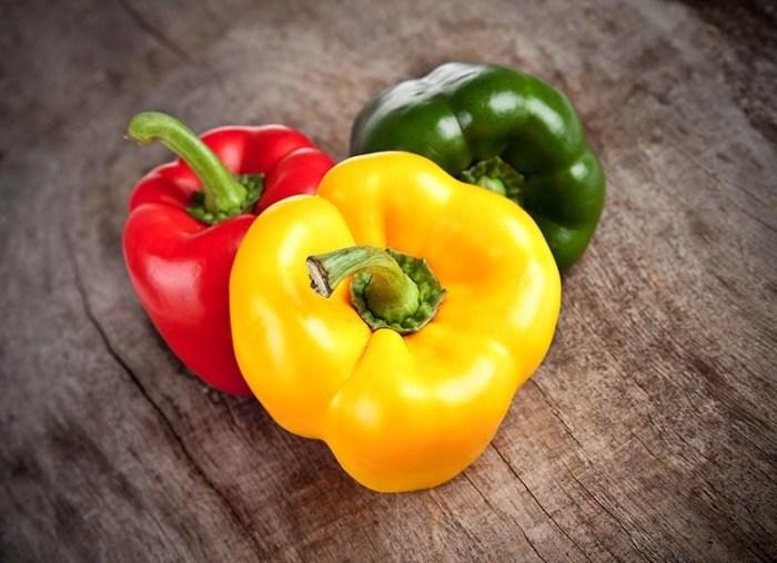 Болгарский перец желтый, красный, зеленый