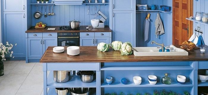 Избыток синего цвета на кухне
