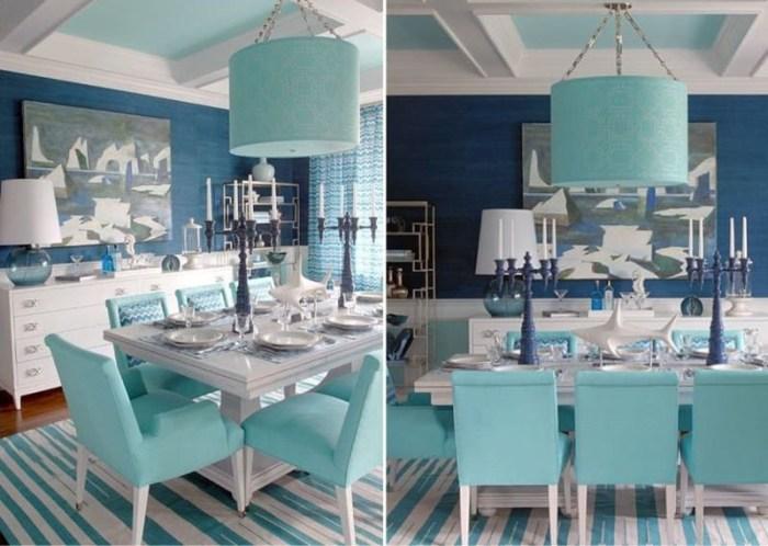 Кухня в свободном морском стиле