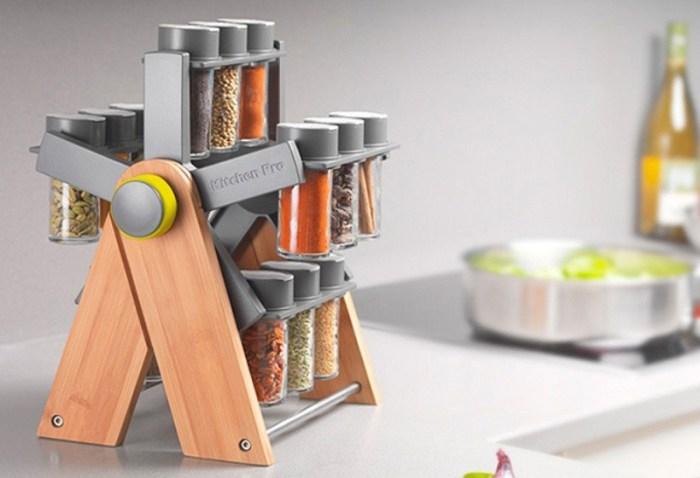 Подставка-карусель для специй с вертикальным вращением