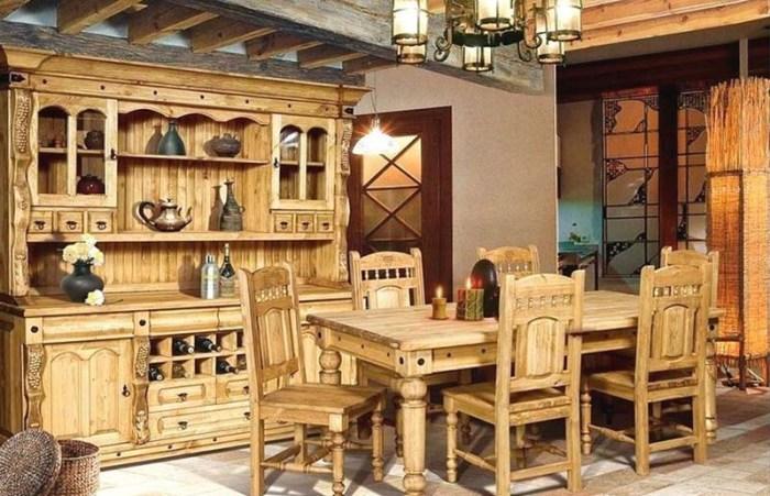 Резная мебель в старославянском стиле из светлого дерева