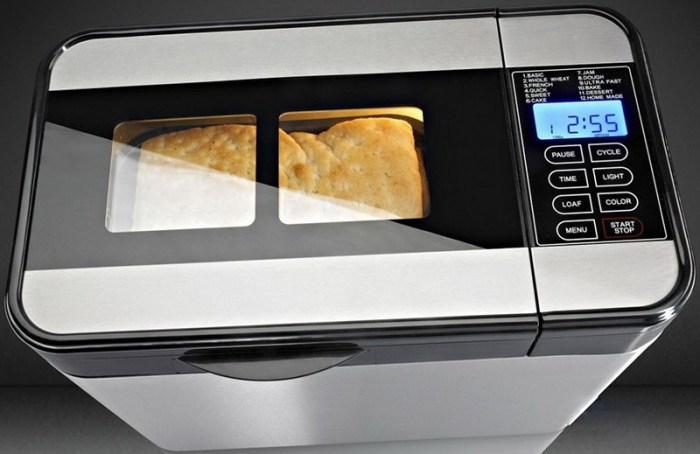 Панель хлебопечки с сенсорными кнопками