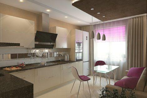 кухня 13 кв м&#x