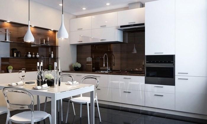 Стандартное освещение на кухне