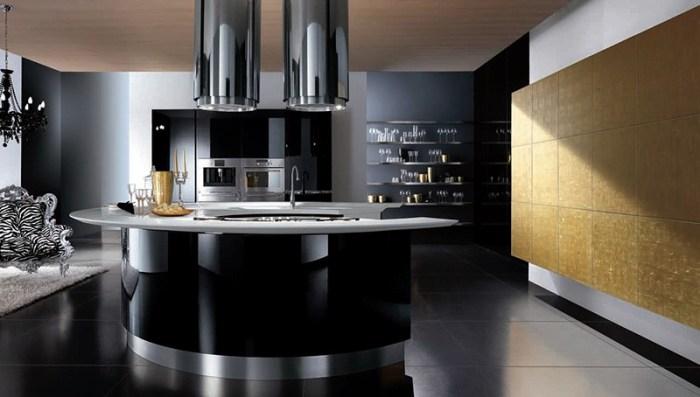 Черный глянцевые фасады мебели