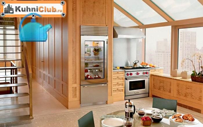 Встроенный-стеклянный-холодильник