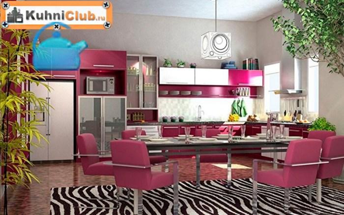 Насыщенный-розовый-цвет-на-кухне