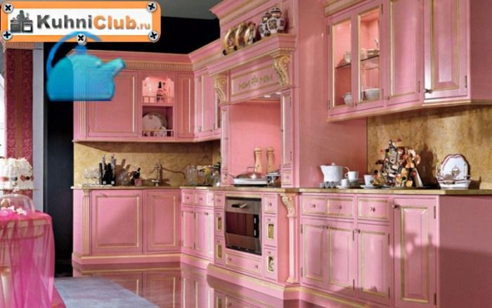 Классический-стиль-розовой-кухни
