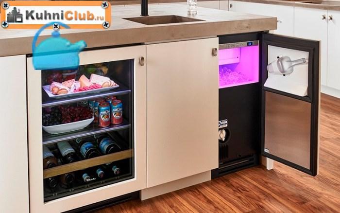 Малогабаритный-стеклянный-холодильник