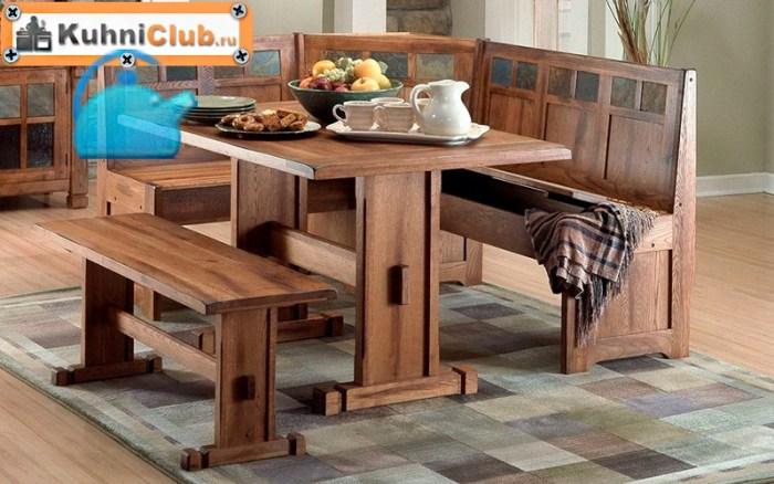 Деревянная-скамья-для-кухни