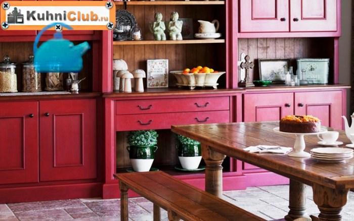 Скамья-в-кухне-стиля-прованс
