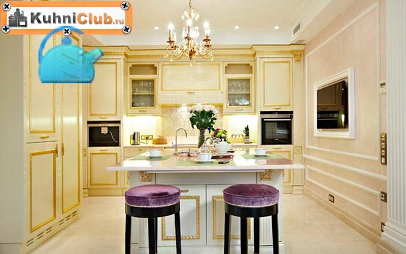 Люстра-и-точечные-светильники-на-кухне-3
