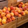 Fresh produce peaches