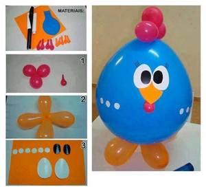 Петушок из воздушных шариков