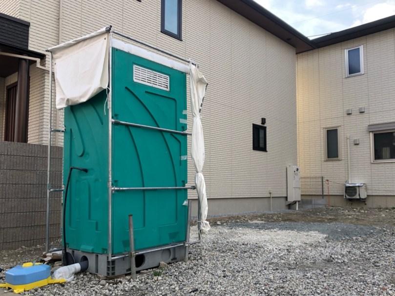 くい丸の仮設トイレ使用事例
