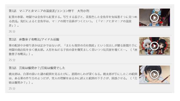 「鬼灯の冷徹 OVA」の全動画あらすじ